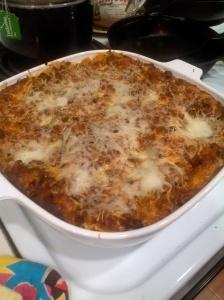 finished lasagna